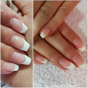 "Remplissage gel + french ""ballerina nails"